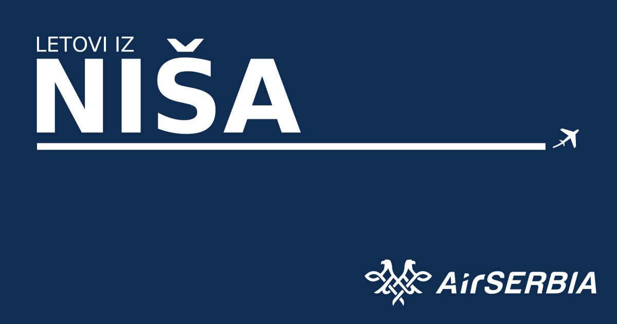 Air-Serbia - Letovi iz Niša